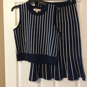 Michael Kors top and skirt set